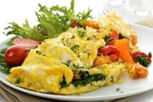 Omelet spinazie huttenkase